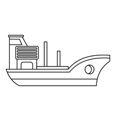 Marine ship icon outline style vector image