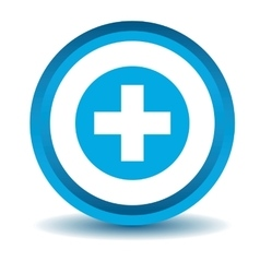 Medical icon blue 3D vector image