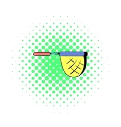 Net for fishing icon in comics style vector image