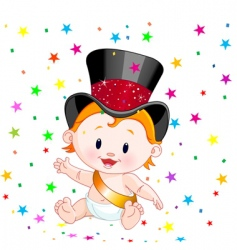 new year baby vector image