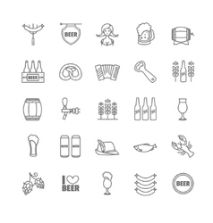 Oktoberfest thin line icons vector image