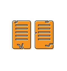 Orange the commandments icon isolated on white vector