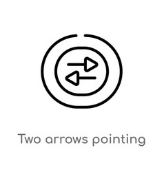Outline two arrows pointing right and left icon vector