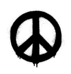 Peace symbol icon spray art vector