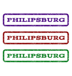 philipsburg watermark stamp vector image vector image