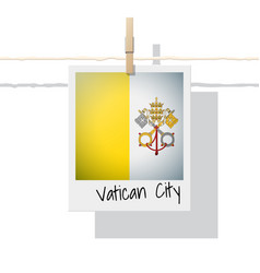 photo of vatican city state flag vector image