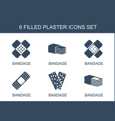 Plaster icons vector
