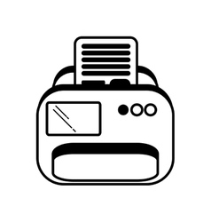 Printer document isolated icon vector