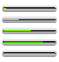 progress bar level indicator user interface vector image