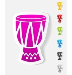 Realistic design element drum vector