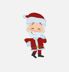 Santa claus with funny expression vector
