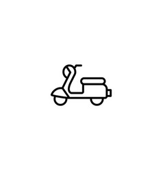 scooter moped icon vector image