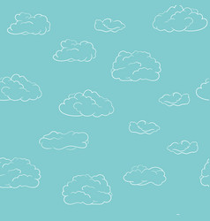 seamless clouds background pattern hand drawn vector image