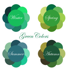 Seasonal color analysis palettes vector