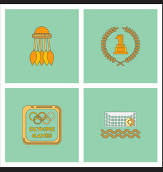 Set of olympic game design vector
