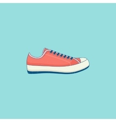 Sneakers line flat icon vector image