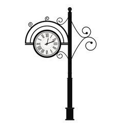 street retro clock on pole vector image