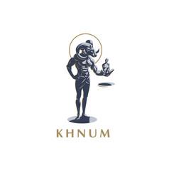 the egyptian god khnum vector image