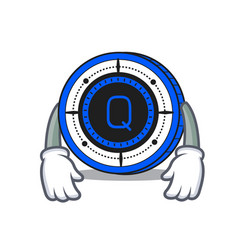 Tired qash coin mascot cartoon vector