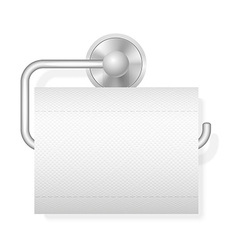 toilet paper on holder 01 vector image