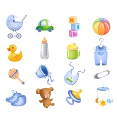 Toys and accessories for baboy vector