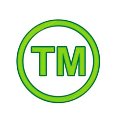 Trade mark sign lemon scribble icon on vector