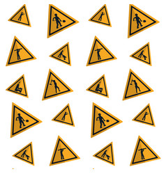 Triangle caution emblem to industry maintenance vector