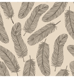 Vintage Feather seamless background vector