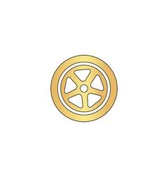 wheel computer symbol vector image