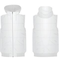 White puffer vest vector