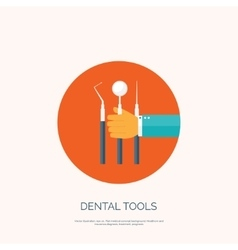 With hand and dental tools vector