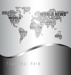 world news concept vector image