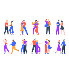 young romantic couples in love happy boyfriend vector image