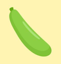 zucchini icon flat style vector image