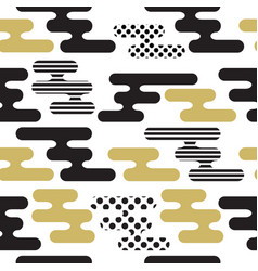 abstract seamless striped pattern vector image vector image