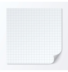 Cell page sheet Sheet of graph paper Grid texture vector image vector image