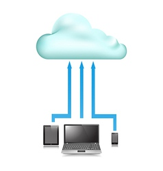 Cloud Store data upload vector image