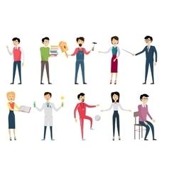 Set of School Teacher Characters vector image vector image