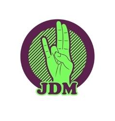 shocker hand symbol JDM vector image