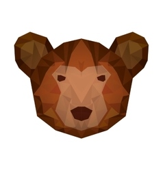 bear head low poly isolated icon vector image