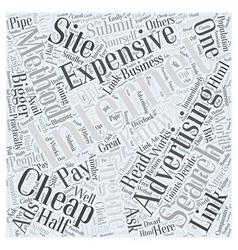 Bw internet advertising methods expensive vs cheap vector