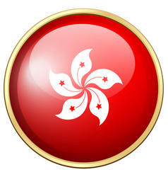 flag of hongkong in round icon vector image vector image