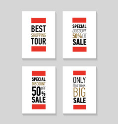 Flat modern sale posters discount card design vector