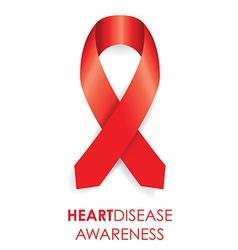 heart disease ribbon vector image vector image
