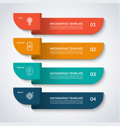 infographic banner with 4 options vector image vector image