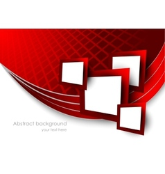 Abstract red background wtih squares vector