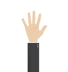 hand of businessman vector image vector image