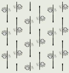 old clock street seamless pattern vector image