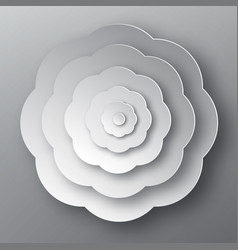 paper cut flower grey abstract plant vector image vector image