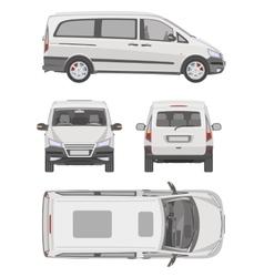 Van template commercial vehicle blueprint vector